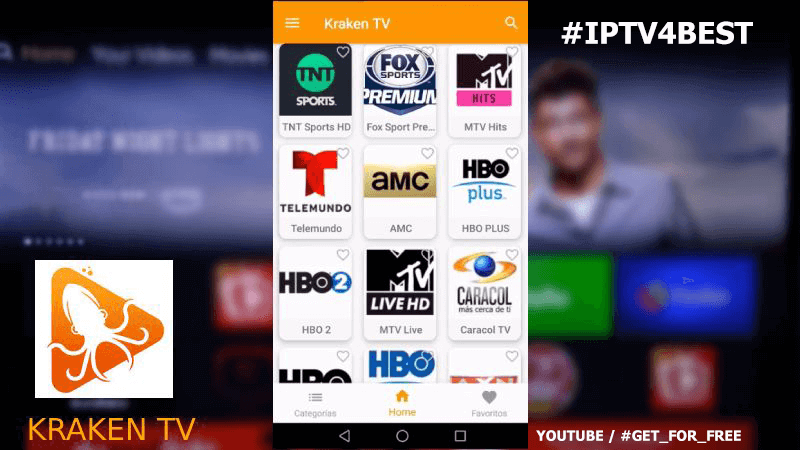 Kraken TV Apk IPTv By IPTV4BEST