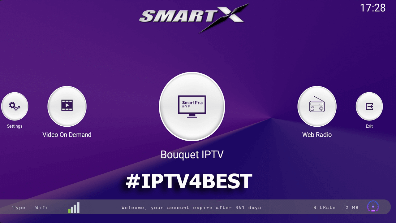 SmartX Pro + Premium Activation 1 Year 352 Days For Free By IPTV4BEST