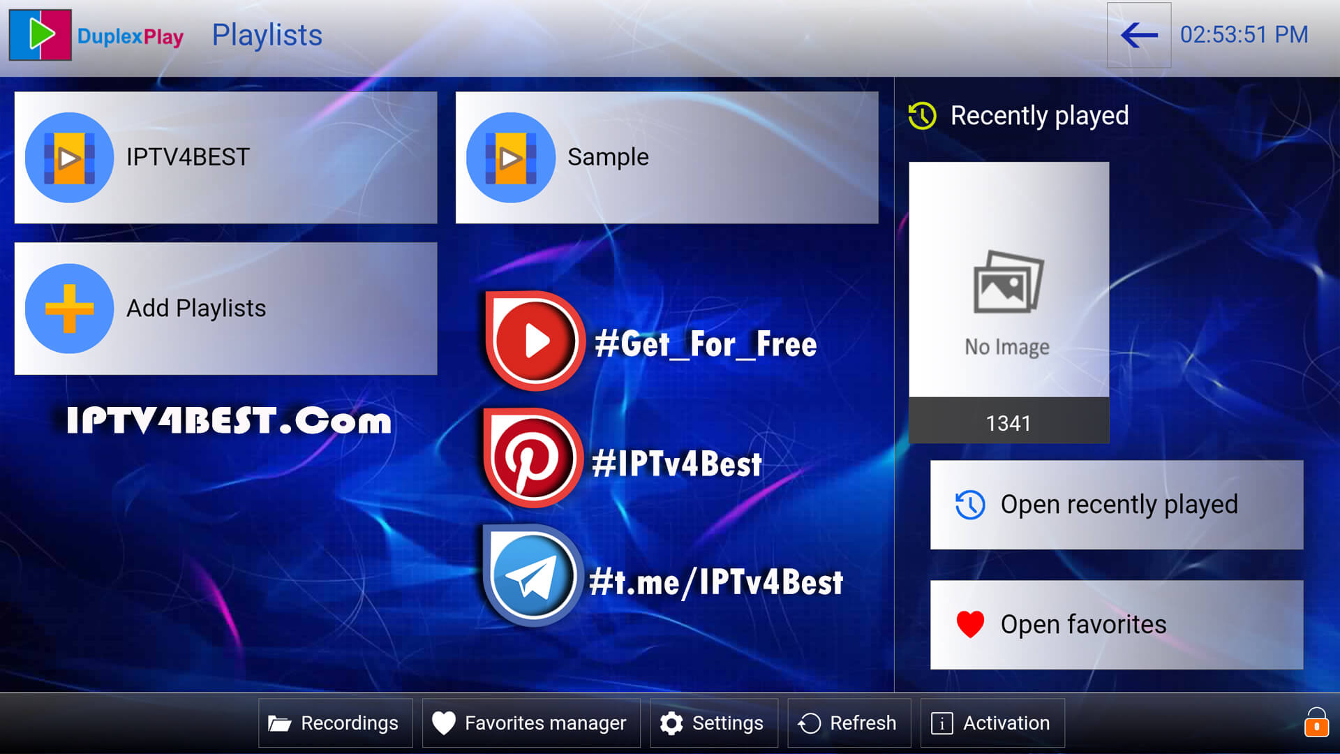Duplex IPTv APK + Code Activation For Free By IPTV4BEST.COM