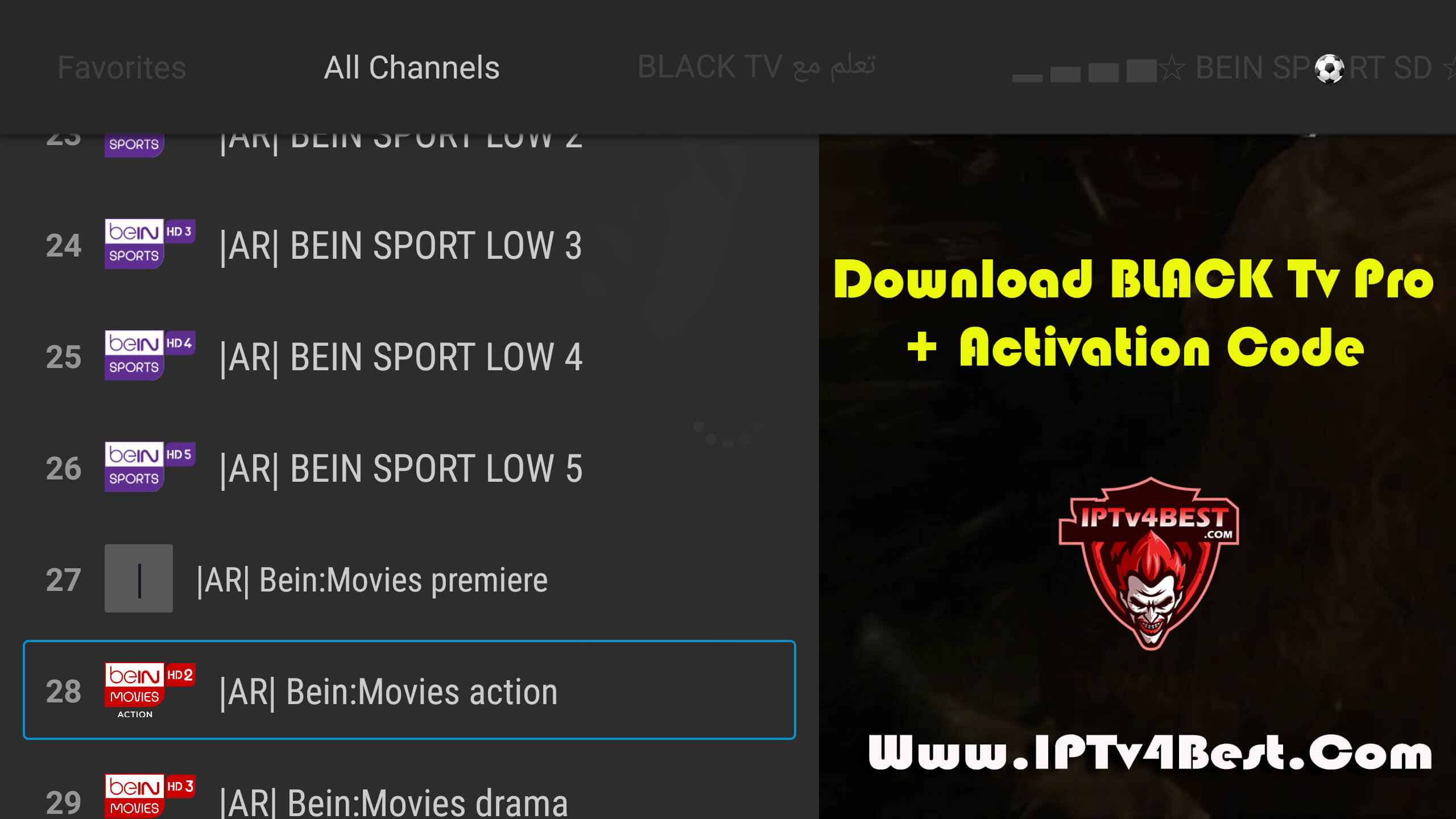 Download BLACK Tv Pro Activation Code By IPTV4BEST.COM