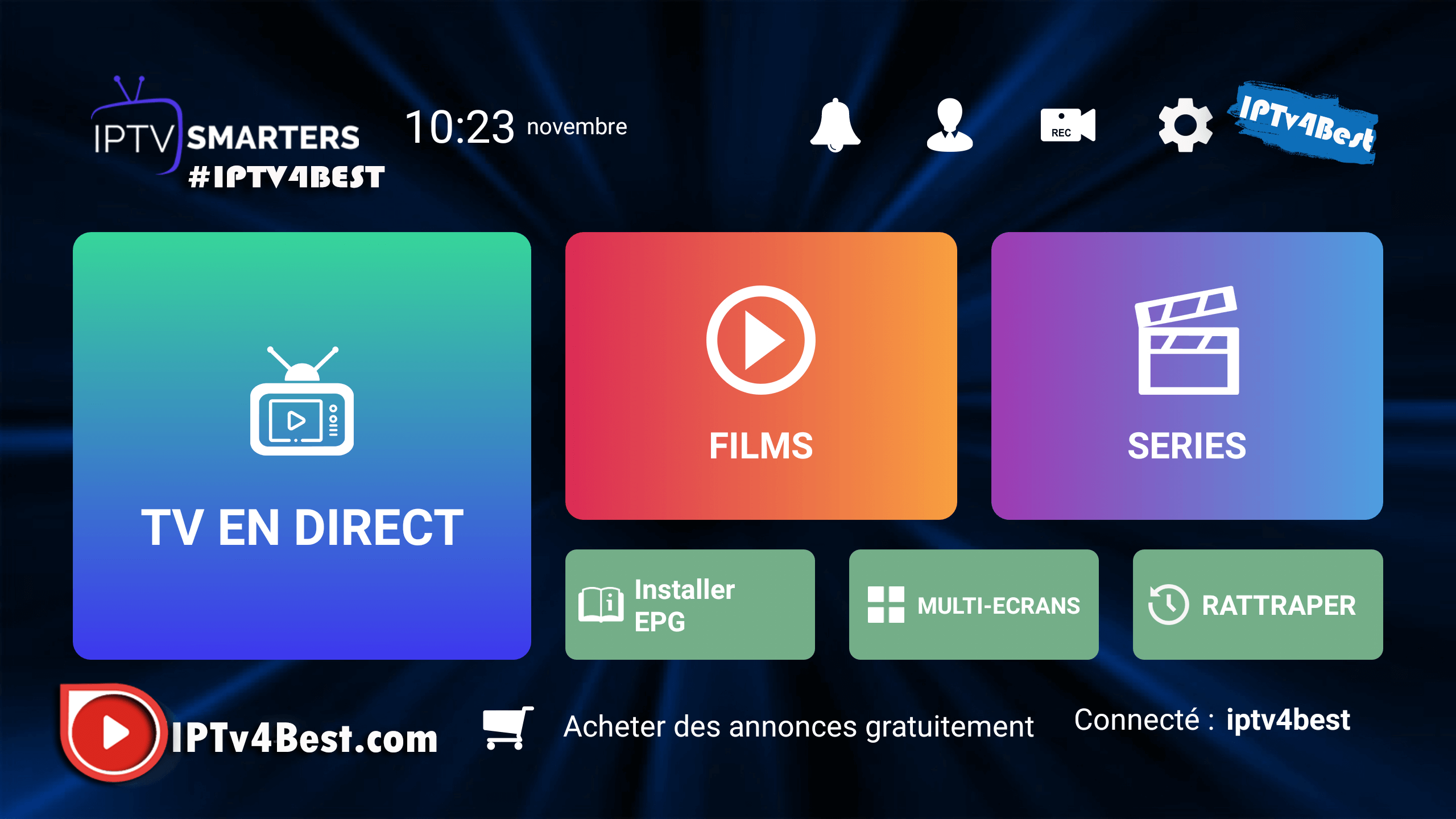 IPTv Smarters Pro APK + PREMIUM Activation Expire 2021 By IPTV4BEST.COM