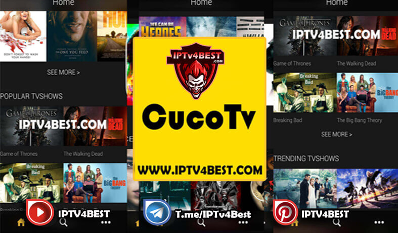 CucoTv Latest Version For Android 2021-IPTV4BEST.COM