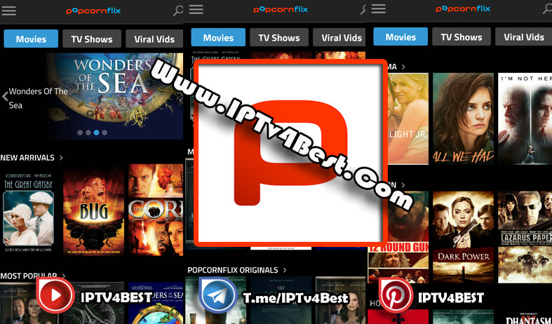 Popcornflix APK Latest Version For Android 2021-IPTV4BEST.COM